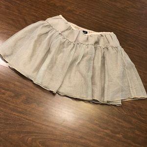 GAP Gold Ruffle Skirt